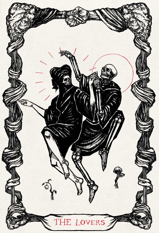 The Lovers Art Drawings Card Art