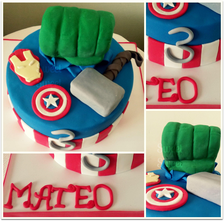 Avengers para Mateo Hulk, Thor, Iron Man y el Capitan America Puño ...