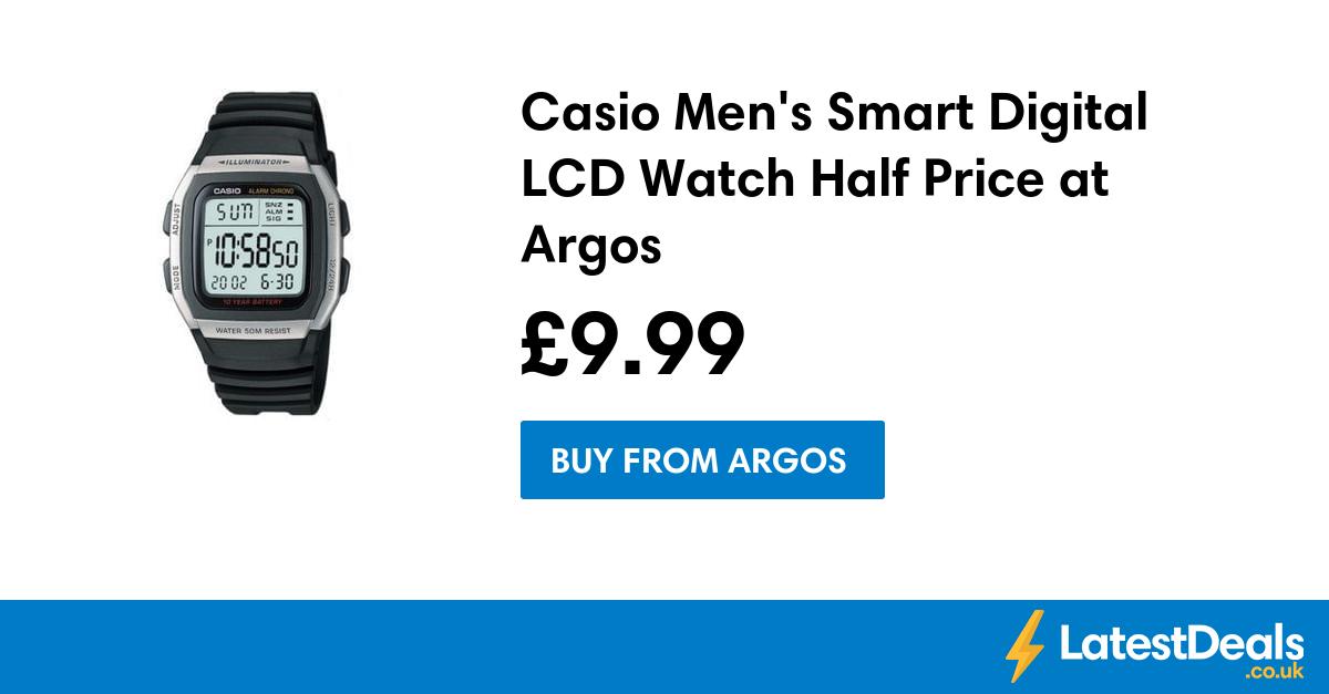 Casio Men's Smart Digital LCD Watch Half Price at Argos