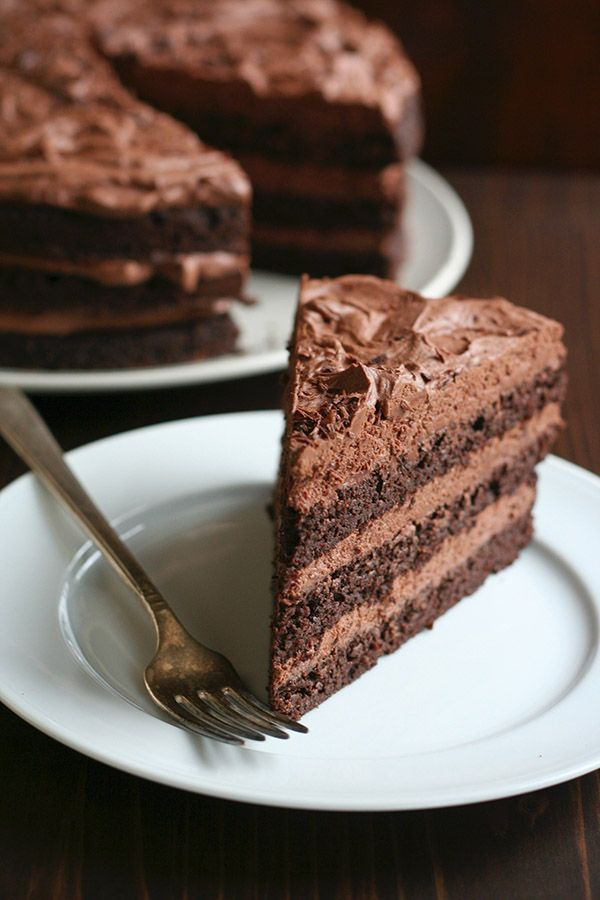 Low Carb Chocolate Layer Cake With Whipped Ganache