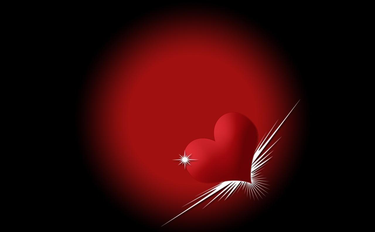3d Love Heart On Black Background Wallpaper 13980 Wallpaper Computer Best Website Wallpaperput Com Gambar Romantis Menggambar Hati