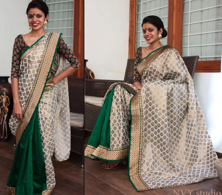 A delightful sari from Nvy Studio