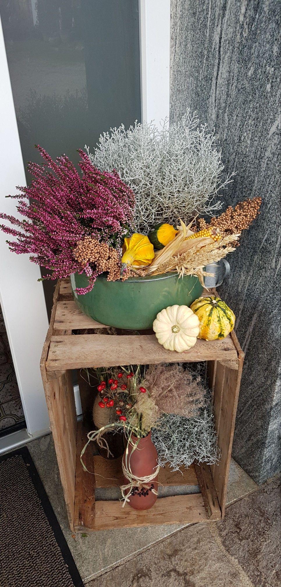 Herbstdeko Hauseingang Hausture Diy Autumn Vintage Deko Herbst Weihnachten Holz Herbst Dekoration