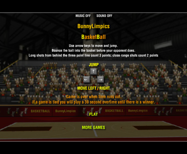 Play Run BunnyLimpics Basketball