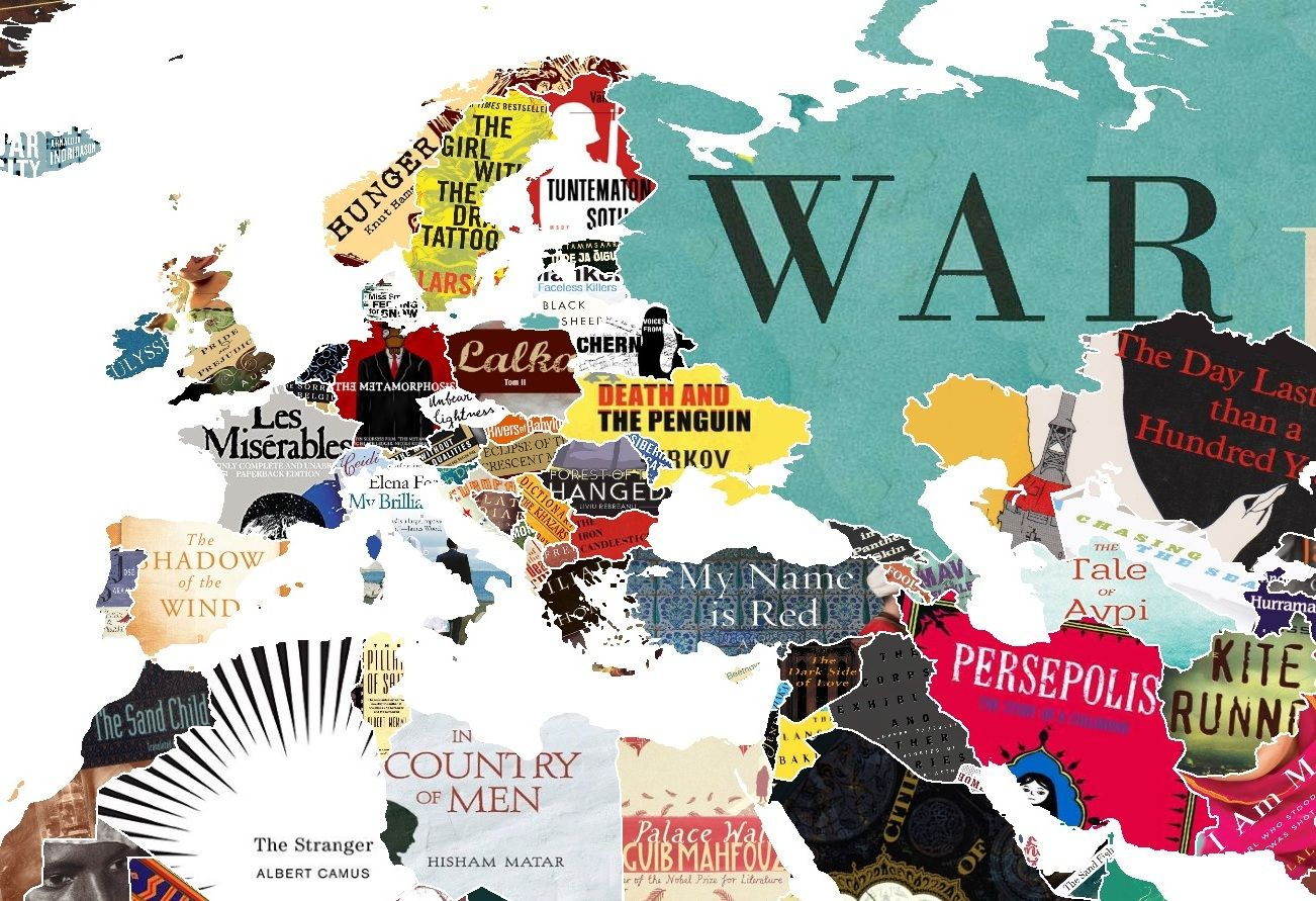 Literature Map Of The World.This Literature Map Of The World Shows You Every Country S Favourite