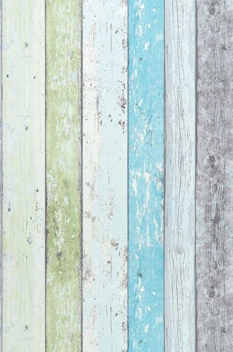Wallpaper Old Planks Pastel Turquoise Wood Wallpaper Novelty Wallpaper Green Wallpaper