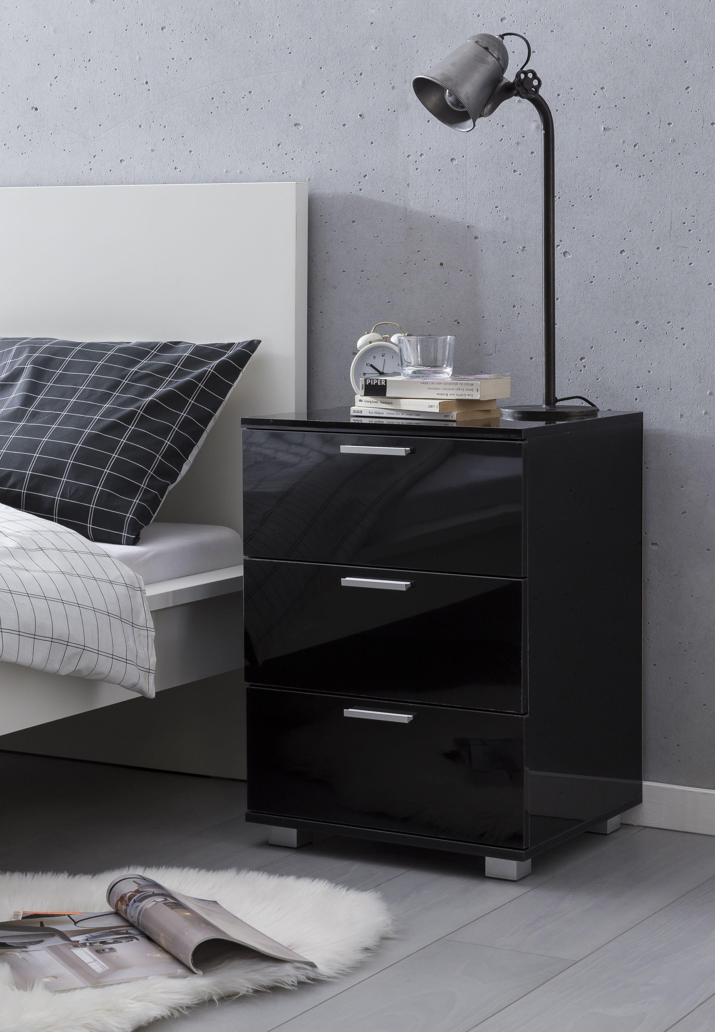 Nachtkonsole Nachtkastchen Bettschrank Betttisch Dunkel