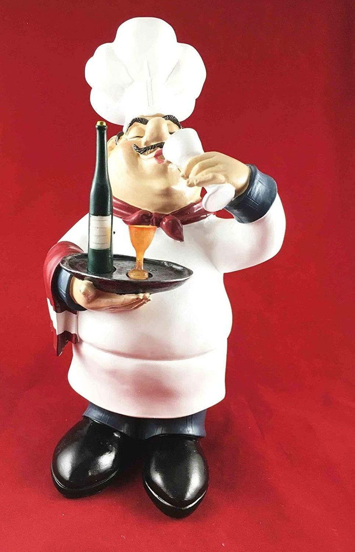 French Chef Decor Kitchen Amazon Figurine Master Chef Wine Tasting French Bistro