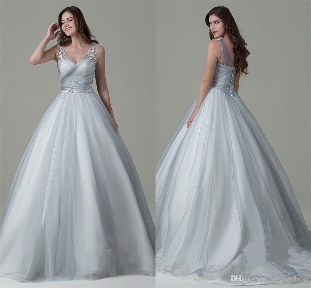 Ball Gown Wedding Dresses Cheap Price Elegant V Neck 2017 Unique ...