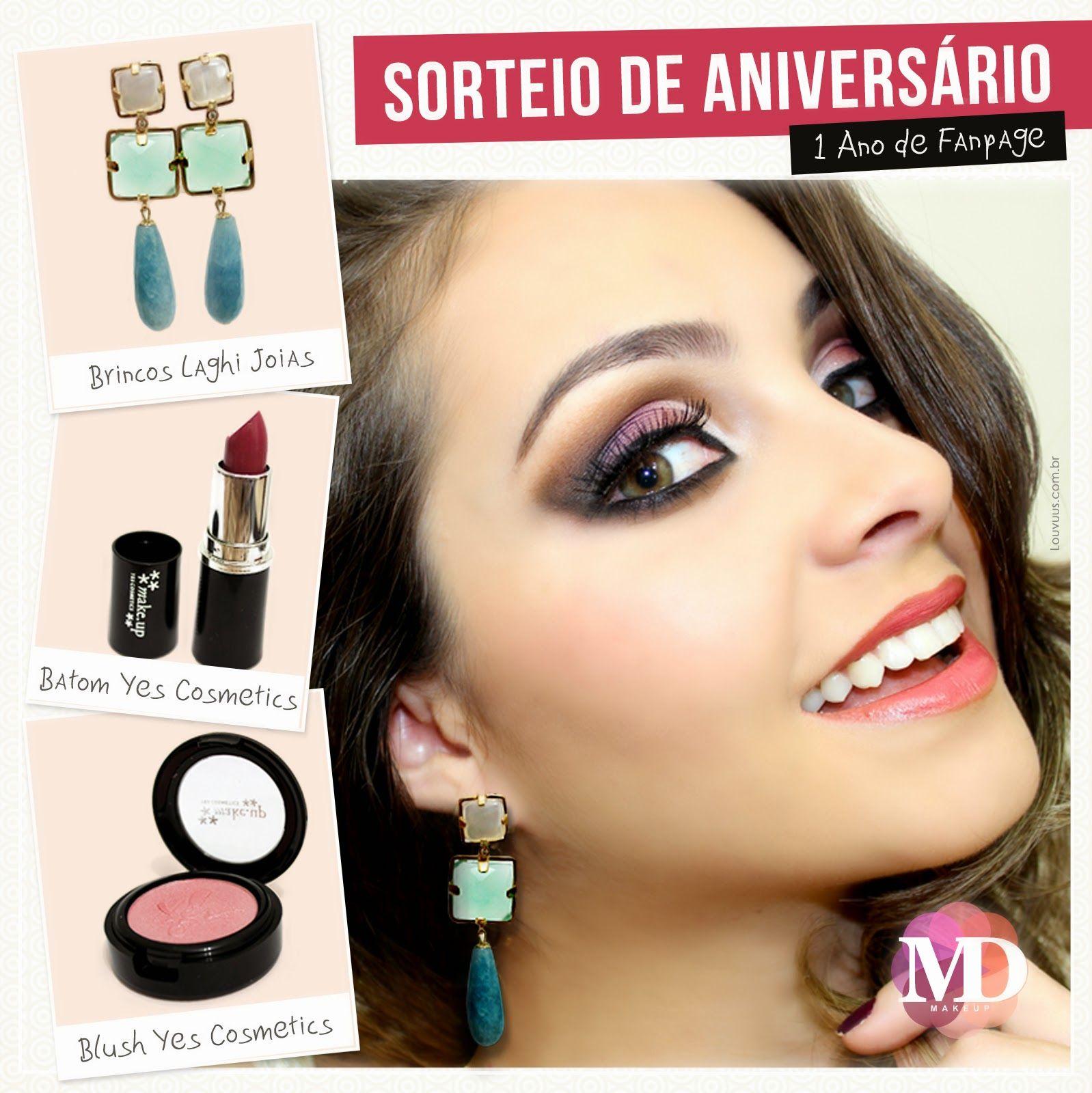 Michelli Make Up: Sorteio 1 ano de Fan Page