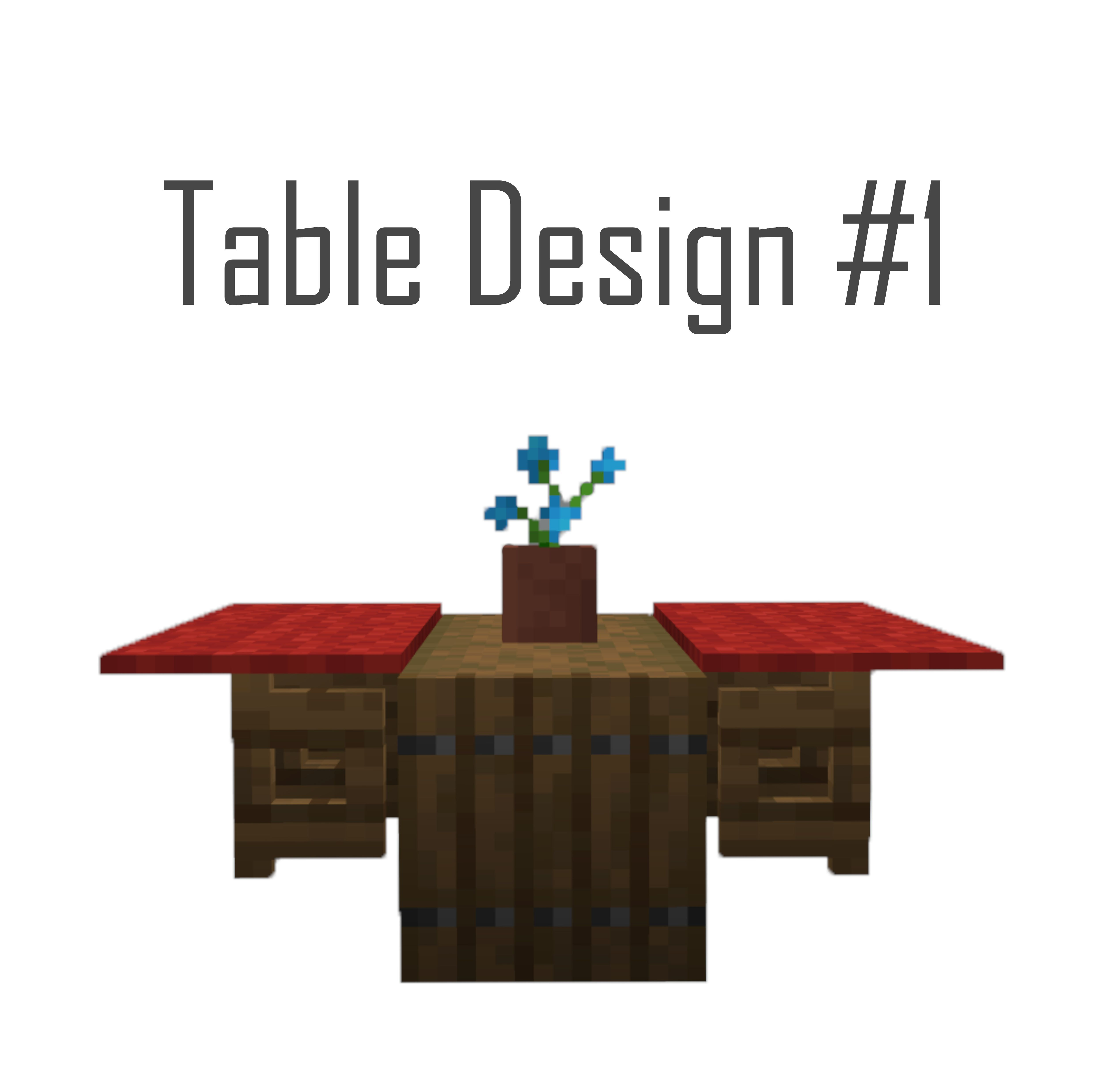 Minecraft log table design minecraftbuildingideas