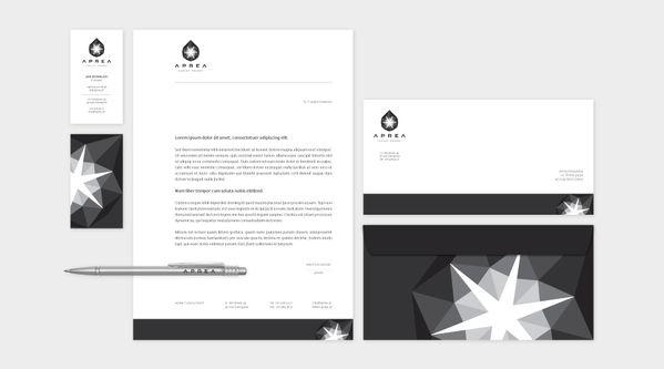 Aprea Luxury Resort / Corporate ID by jedzkolor, via Behance