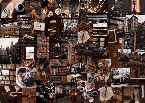 Dark Brown Aesthetic Laptop Wallpaper | Aesthetic Desktop