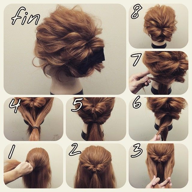 Hairstyles For Short Hair Fast : Top 10 messy updo tutorials for different hair lengths pinterest