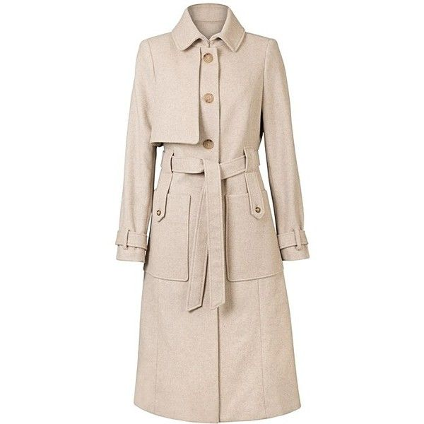 Pink and green trench coat