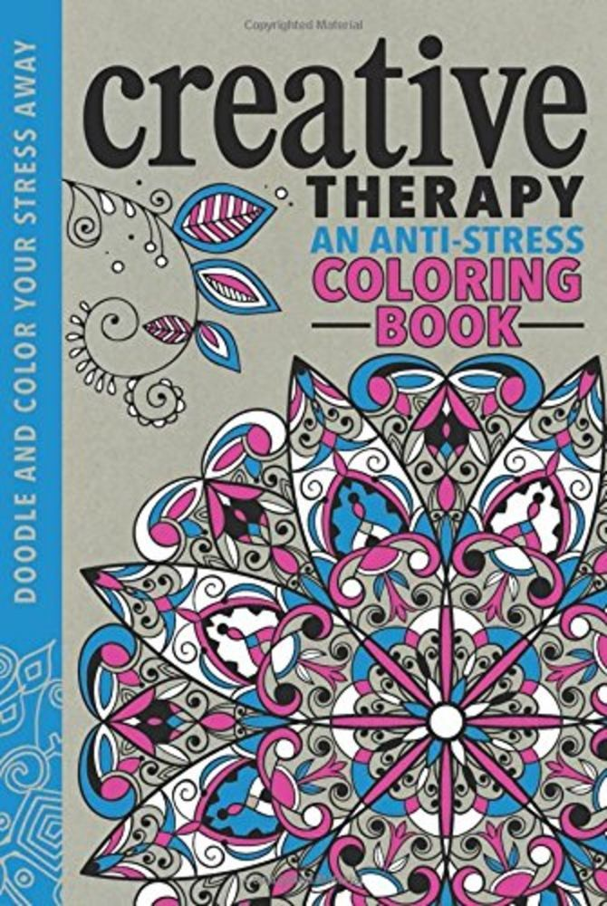 Creative Therapy An Anti Stress By Hannah Davies Hardcover Free Shipping New Coloring Books Stress Coloring Book Anti Stress Coloring Book