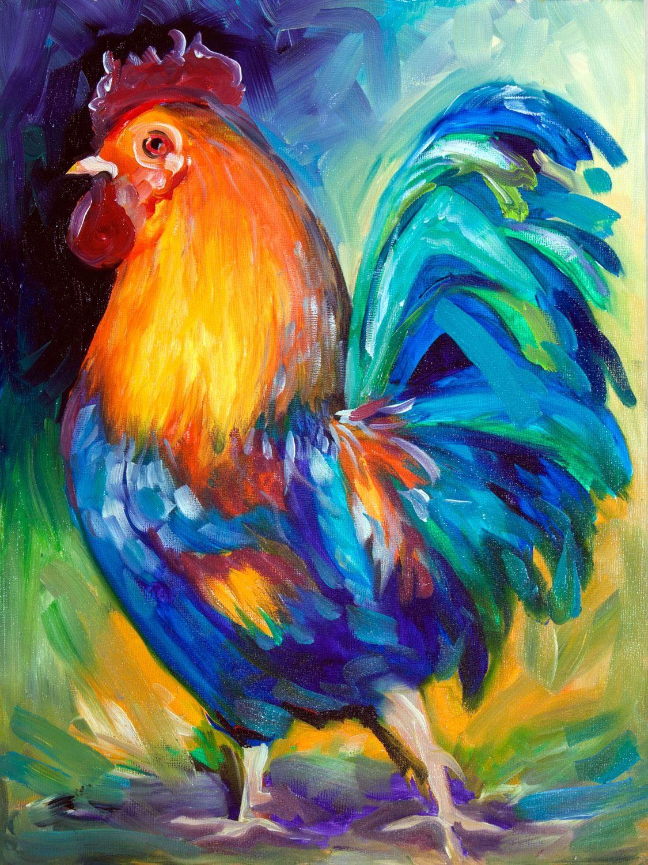 """Rooster Happy Farm"" par Marcia Baldwin"