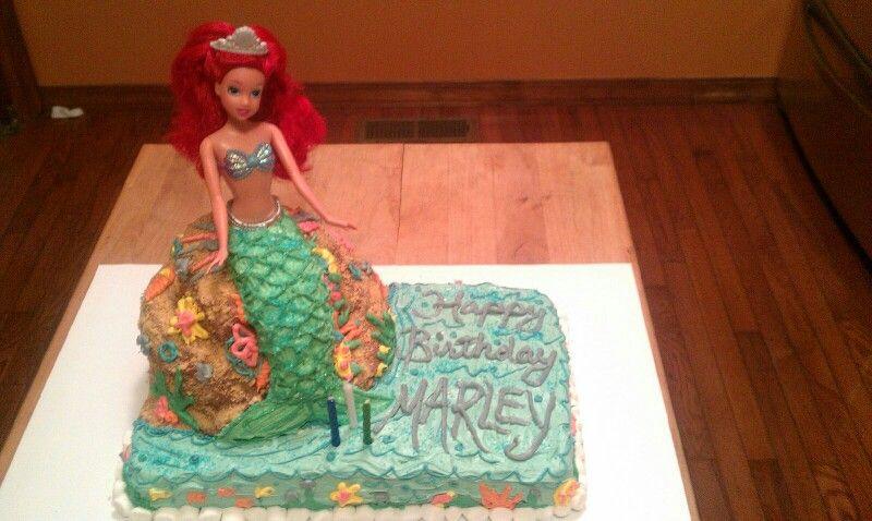 ariel cake marleys bday  ariel cake disney princess bday
