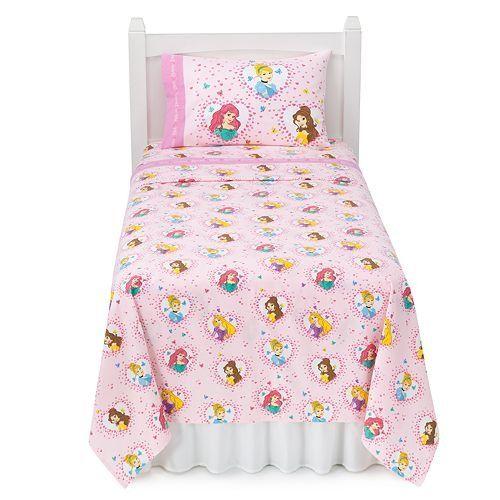 Disney Princess Heavyweight Flannel Sheet Set (Twin)