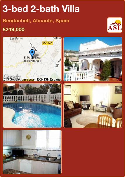 Villa For Sale In Benitachell Alicante Spain With 3 Bedrooms 2 Bathrooms A Spanish Life Villa Orihuela Benidorm