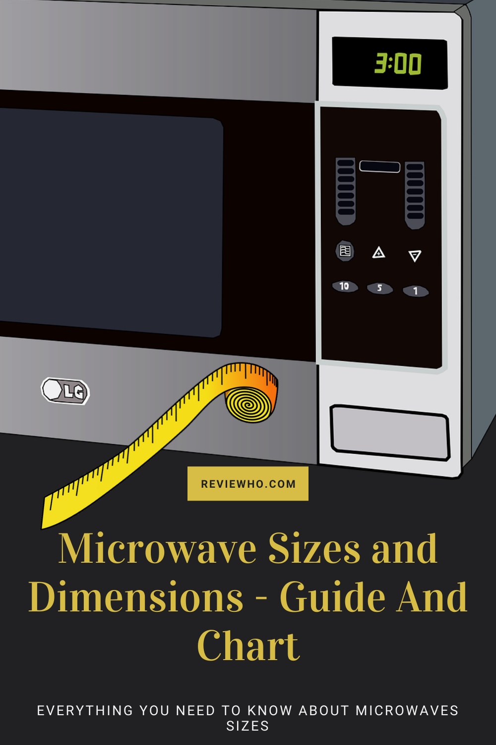 microwave sizes and dimensions the