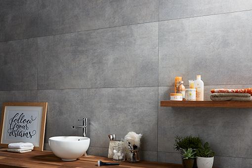 Dumawall Plus Dark Cement Solid Bathroom Wall Tile Mb Diy Bathroom Cladding Bathroom Wall Tile Pvc Wall Panels