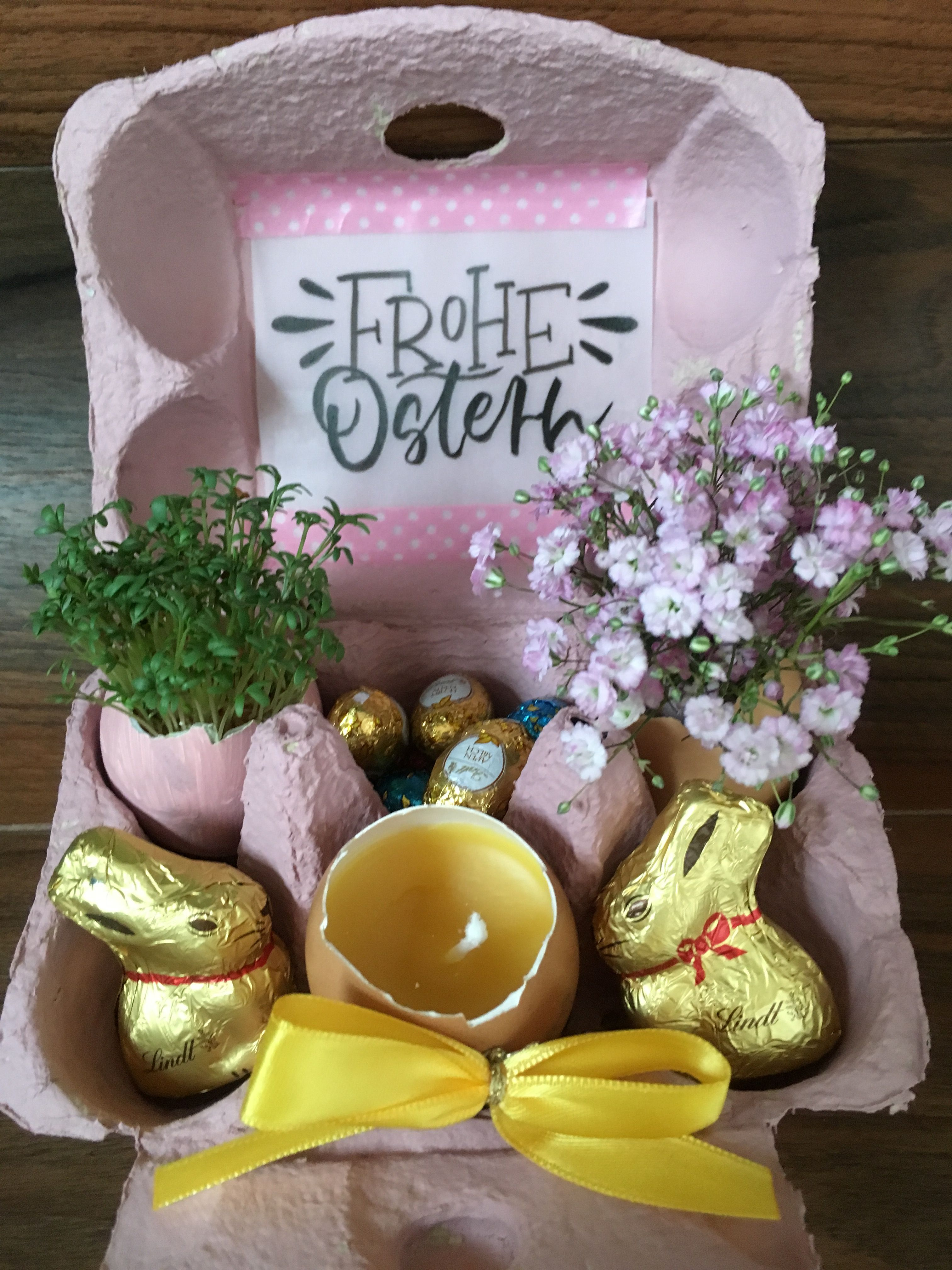 Photo of Easter gift homemade, with egg candles, Kr – Easter decoration garden concrete