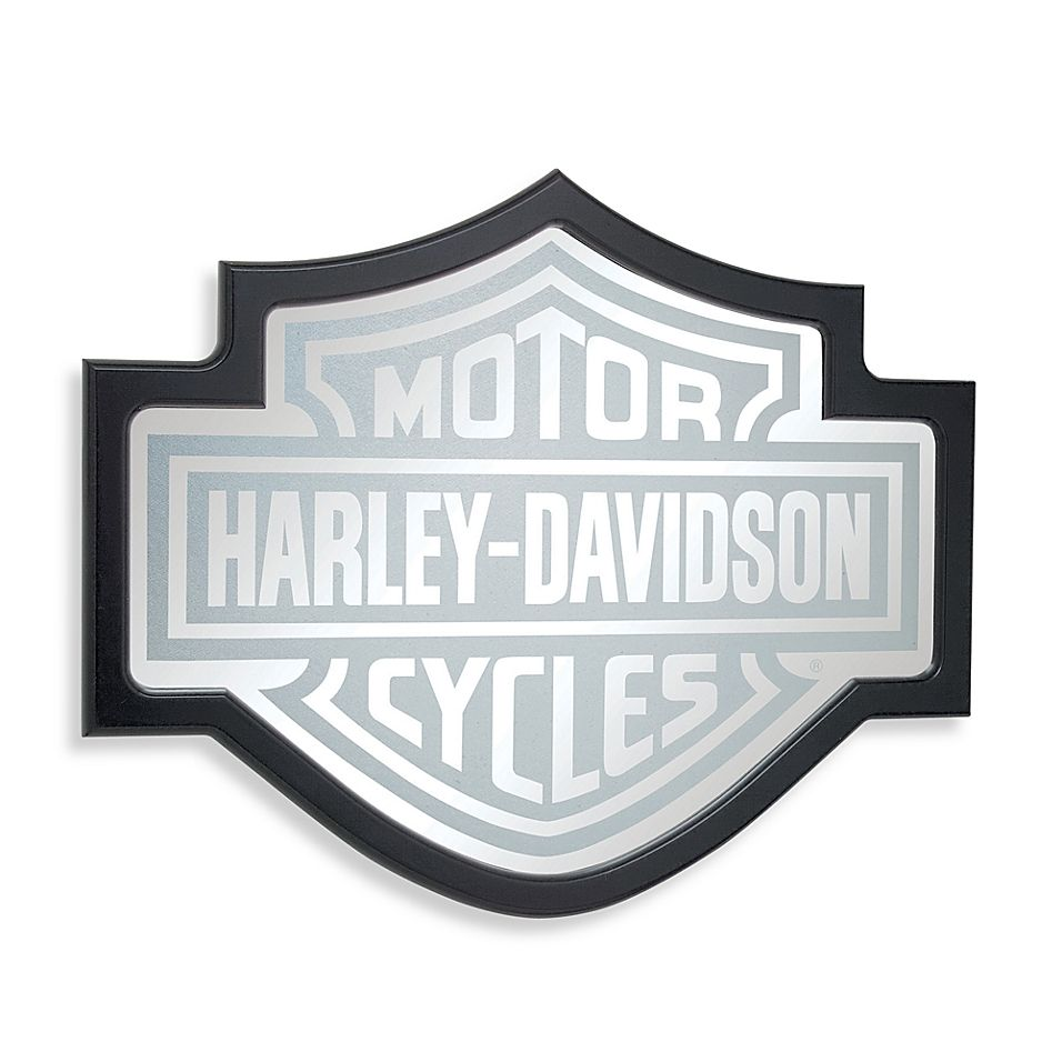 Harley Davidson Bar And Shield Mirror Custom Bikes Bike Logo Harley Davidson