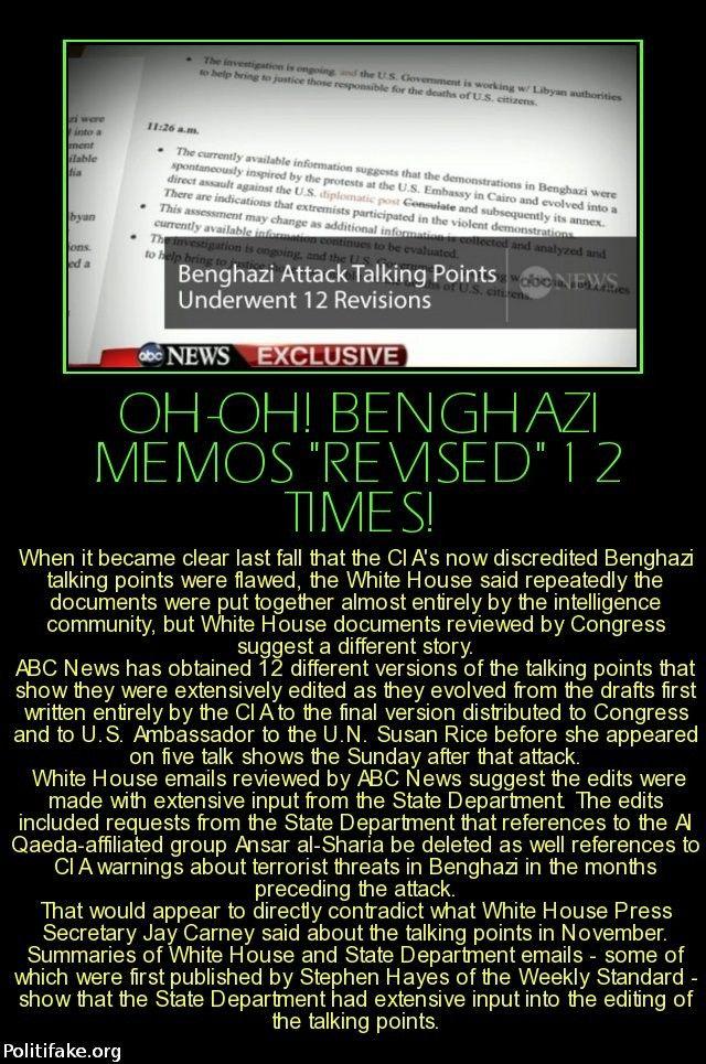 Benghazi Memos Revised  Times  American Betrayal