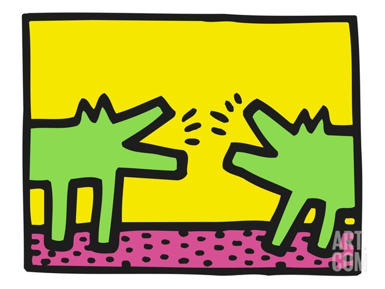 Pop Shop (Dogs)By Keith Haring Em 2019