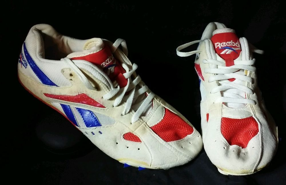 Vintage Reebok Athletics Sprint Track Shoes Spikes cleats Team USA Mens Sz  5 key  Reebok  Cleats f51b3a67a