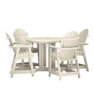 Highwood Patio Furniture.Hamilton 5 Piece Round Counter Height Dining Set Weathered Acorn