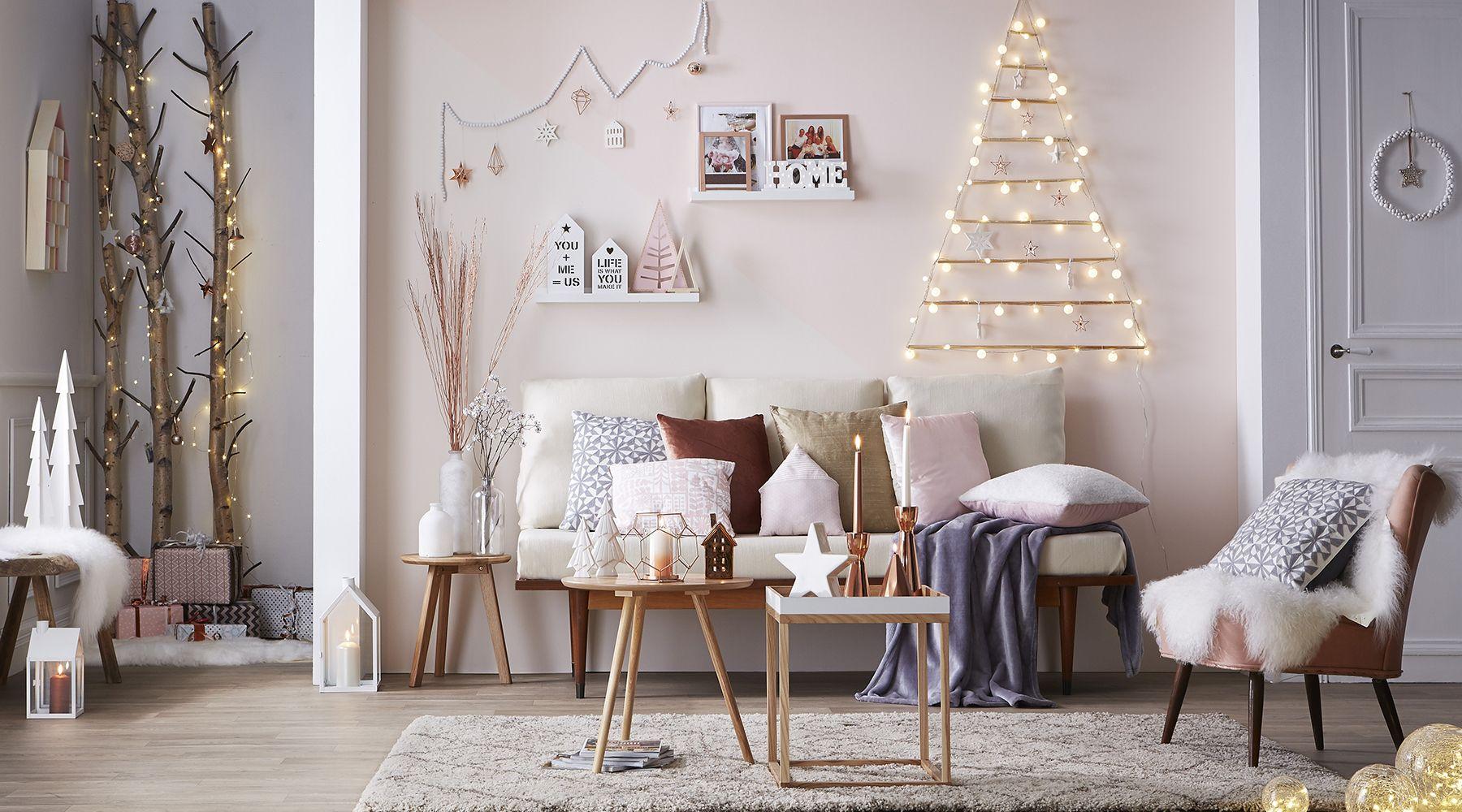 id e d co salon d clic no l nordique la pi ce vivre pinterest noel deco et idee deco. Black Bedroom Furniture Sets. Home Design Ideas