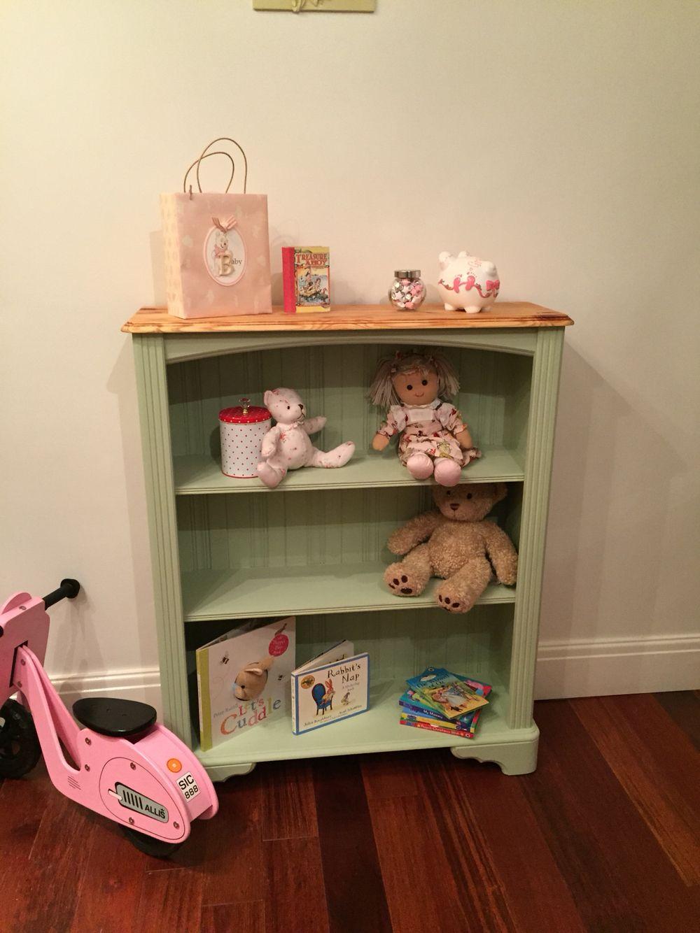 Bedroom Furniture Warrington Free Standing Bookshelf Hand Painted With Autentico Mistique Chalk