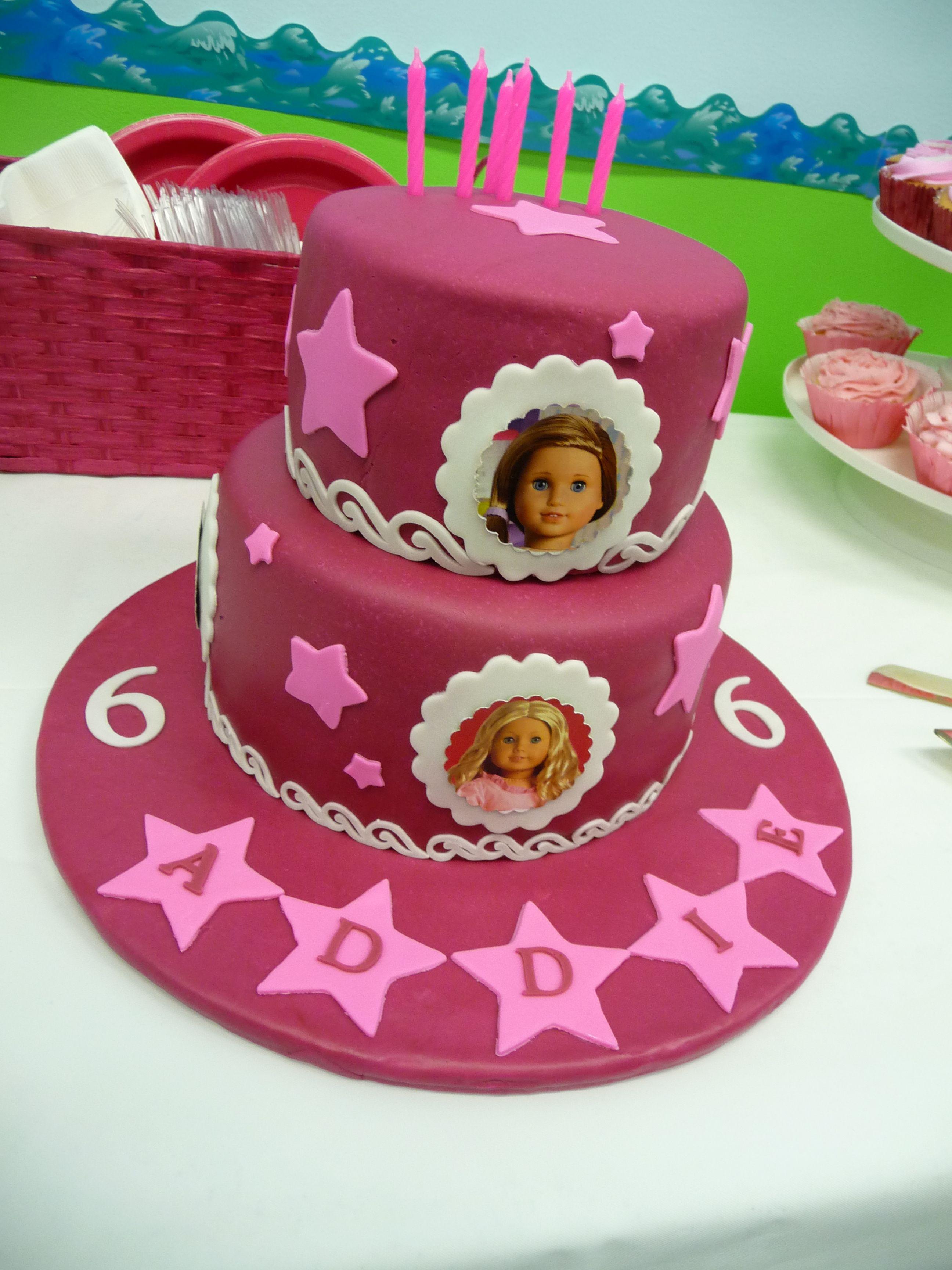 Astounding American Girl American Girl Birthday American Girl Cakes Personalised Birthday Cards Paralily Jamesorg