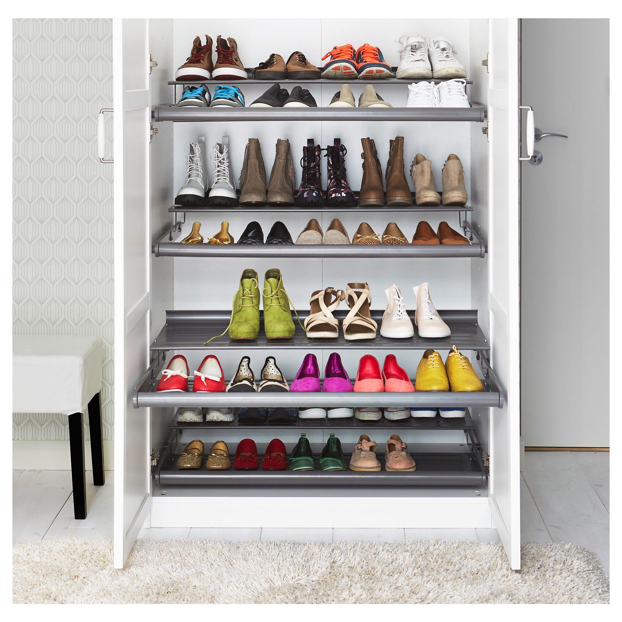 KOMPLEMENT Pull-out shoe shelf - dark