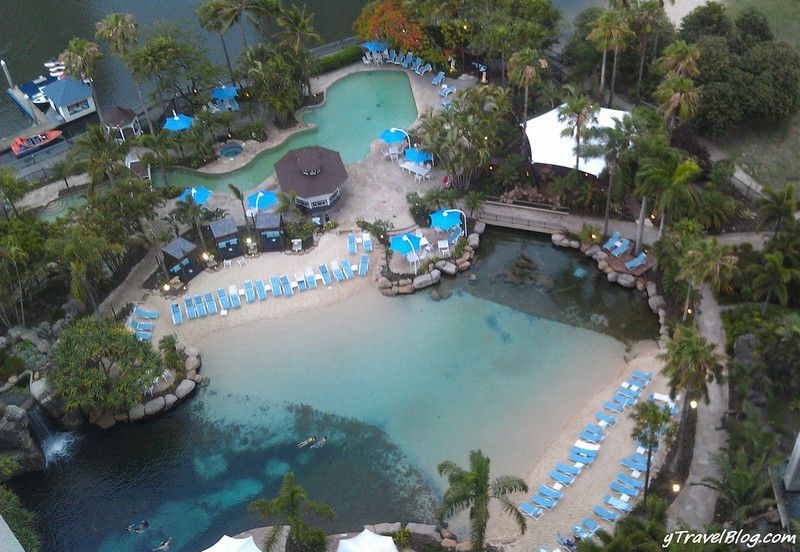 Saltwater pool with live reef and fish the marriott - Hotels with saltwater swimming pools ...