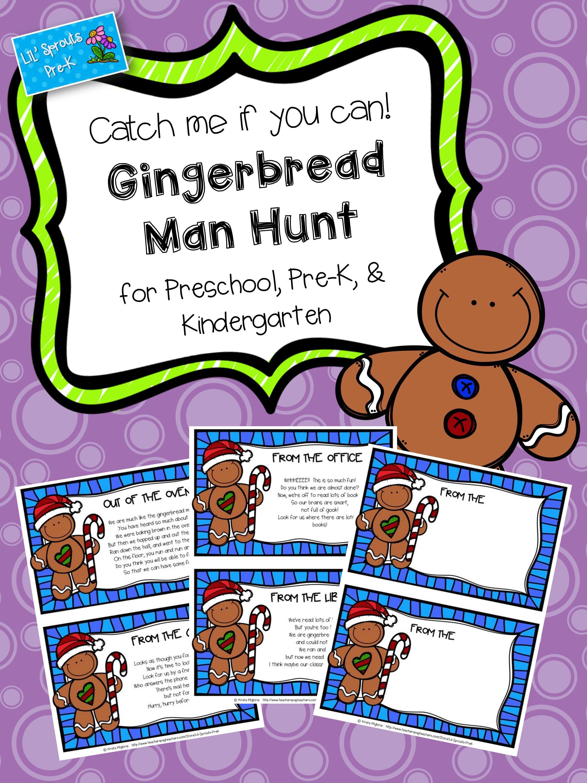 Gingerbread Hunt Gingerbread Man Freebie