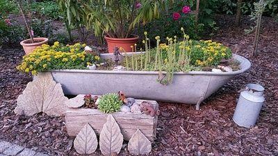 Bildergebnis f r zinkwanne bepflanzen garten pinterest - Zinkwanne dekorieren ...