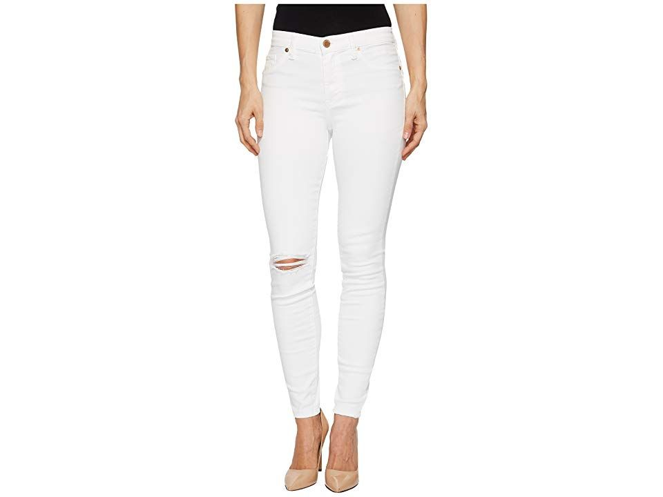 Blank NYC MidRise Distressed Skinny in Great White Great White Womens Casual Pants In BlankNYC jeans you dont just step onto the scene you own it The Skinny boasts a sign...