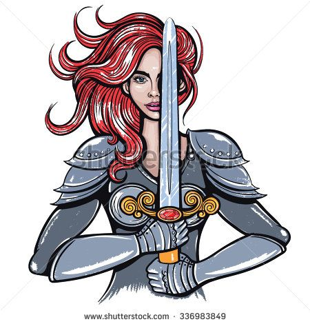 warrior woman stock vectors vector clip art shutterstock rh pinterest com warrior clipart indian warrior clipart