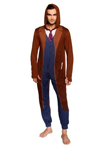 eae5a5c7917b Doctor Who Tenth Doctor Adult One Piece Pajamas (X-Large)