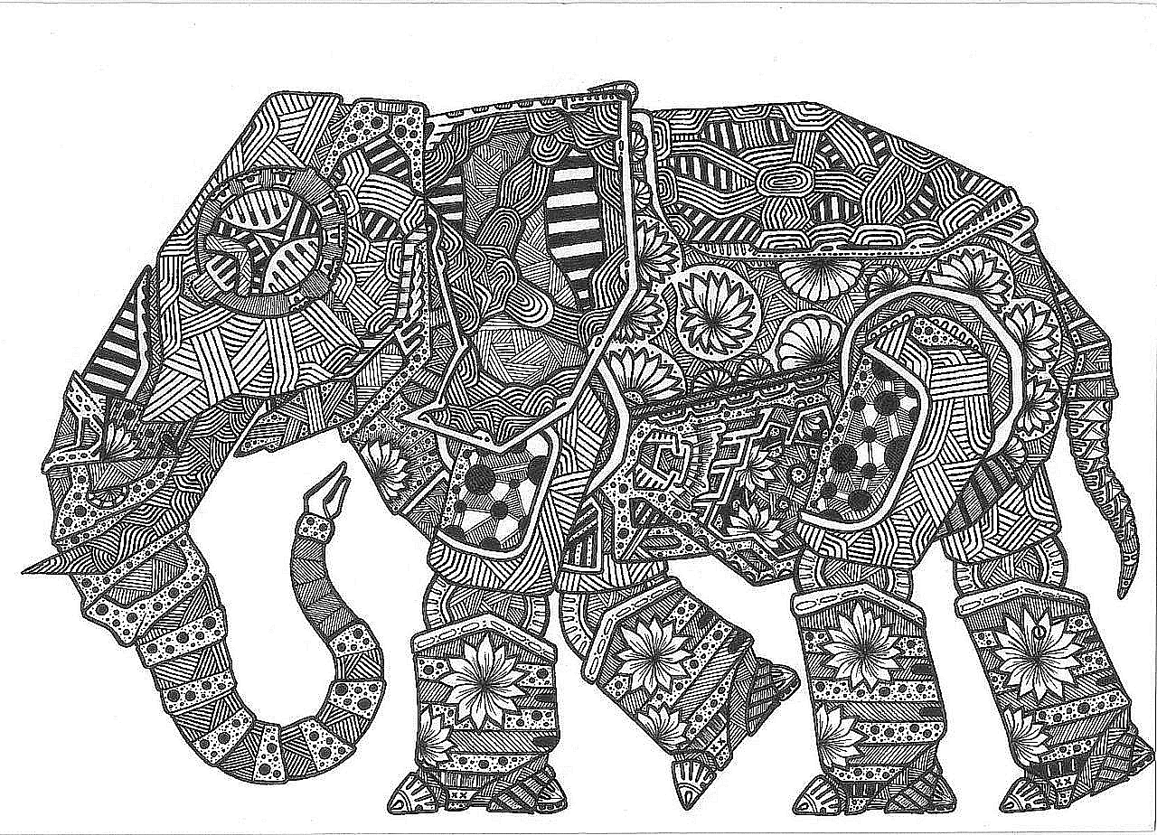 Pin de faye white en Amy\'s Elephant Color Pages | Pinterest