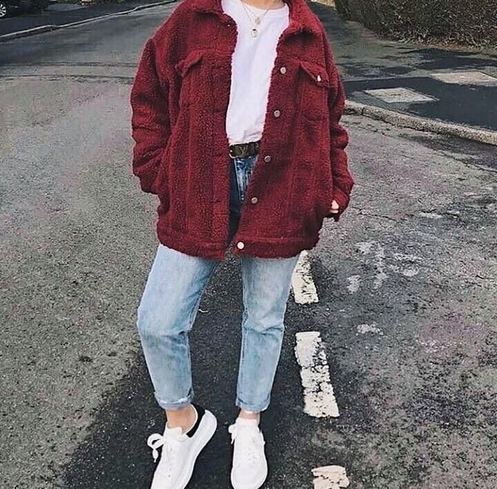 Photo of THE WINE BUTTON UP TEDDY JACKET