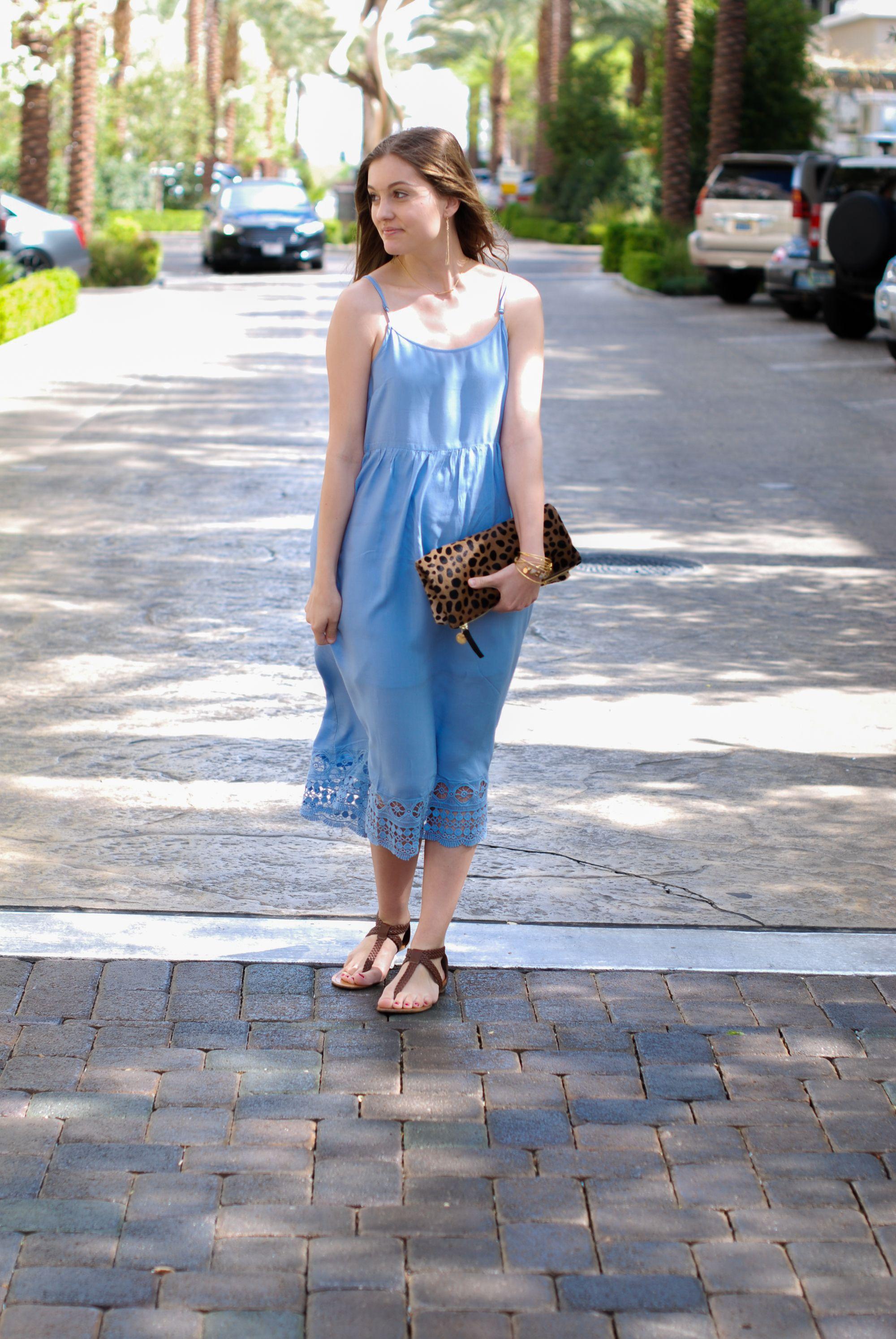 Baby Blue Fashion Lifestyle Blog Slip Dress