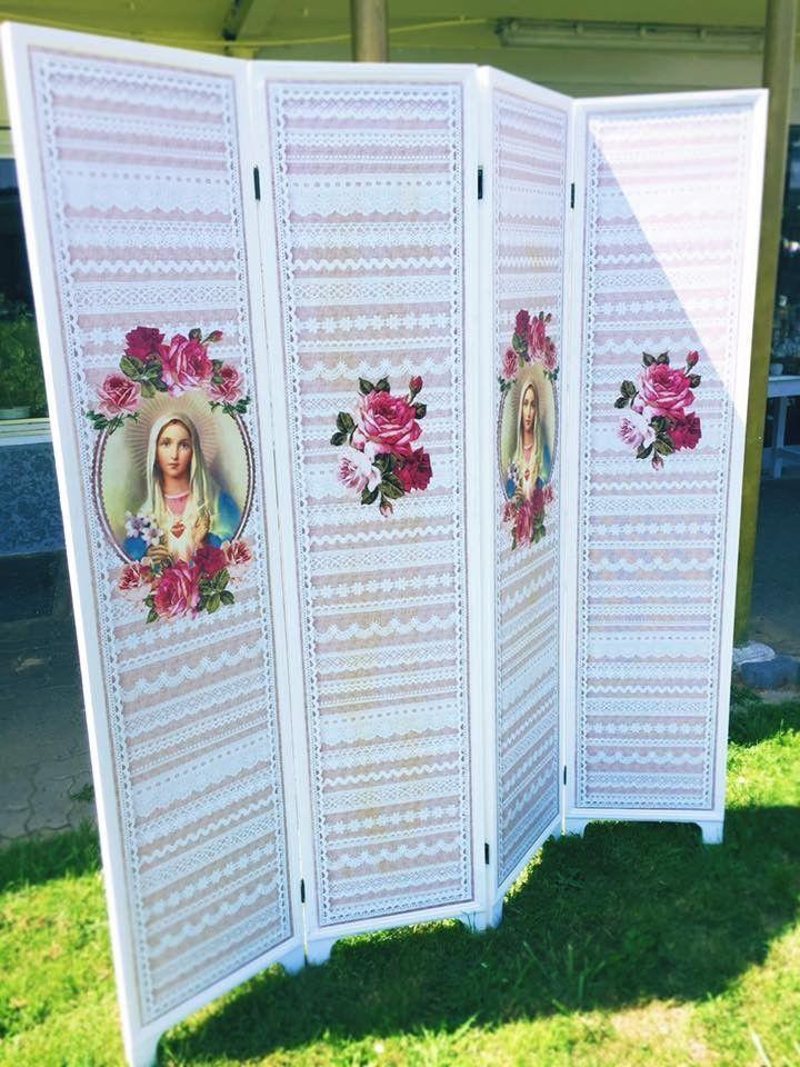 Raumteiler Paravent Madonna ca. 160 x 180 x 2,5 cm | Raumteiler ...