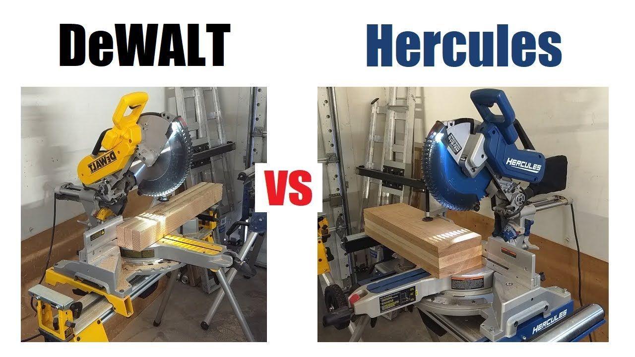 Hercules Vs Dewalt Miter Saw Review Harbor Freight Bringing The Heat Miter Saw Reviews Dewalt Miter Saw