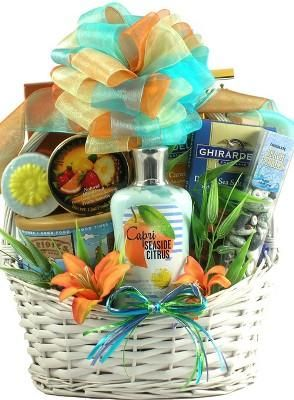mothers day scent sation tropical spa gourmet gift basket free shipping - Christmas Gift Baskets Free Shipping