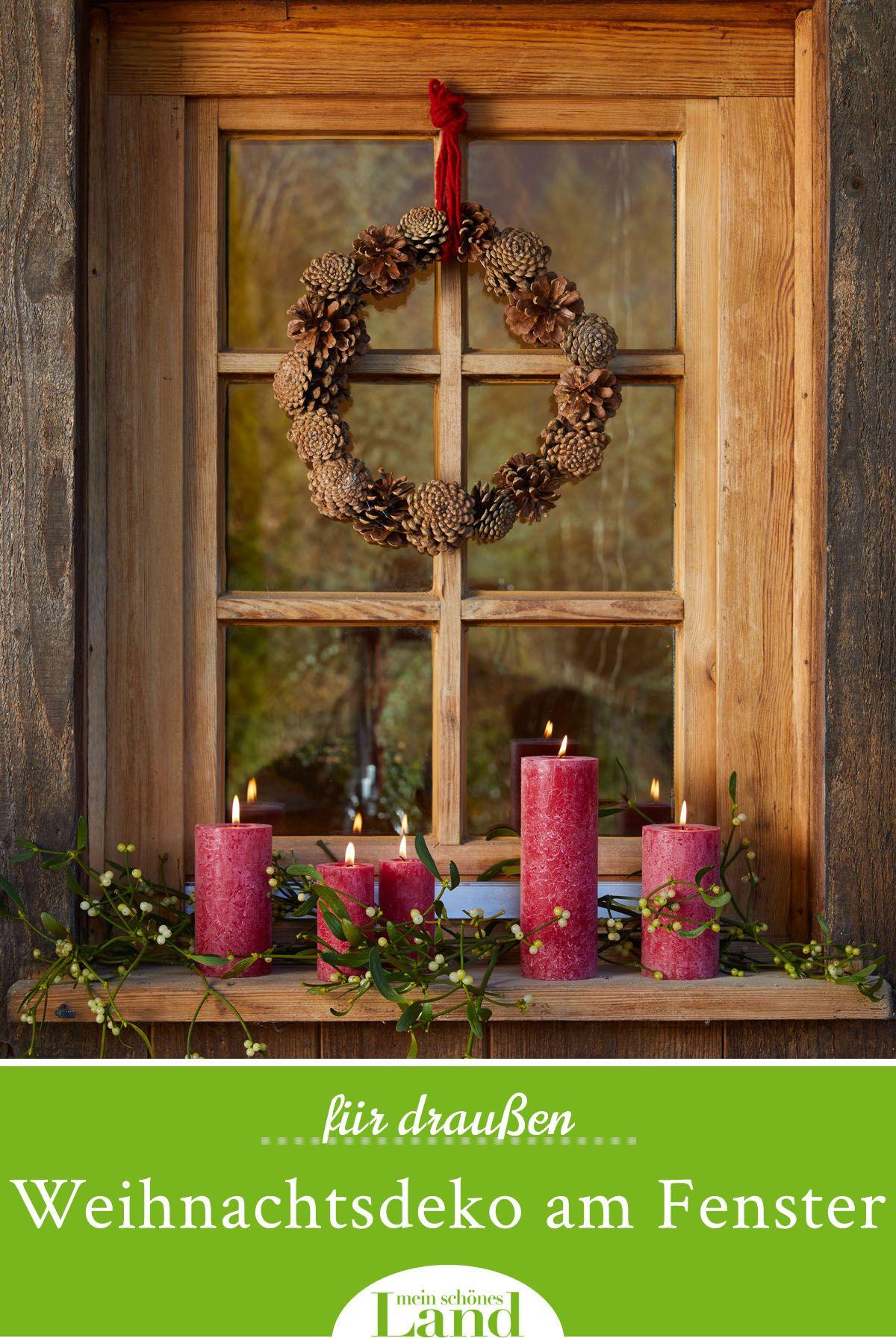 Weihnachtsdeko für das Fenster außen