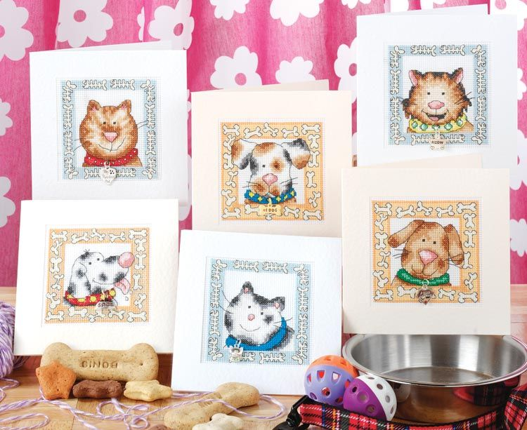 Cool Cats and Dogs Cards, designed by Jenny Barton, from The Chart Shop.